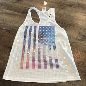🏝1/2 Off Sale 🏝 NWT Pink American Tank Sequins
